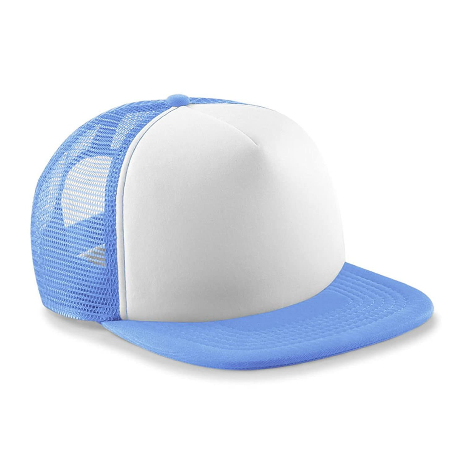 Kids Vintage Snap Back Trucker Cap Sky/White