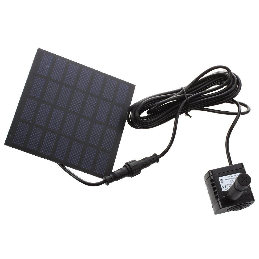 EMEBAY - Actualización Bomba de agua solar en miniatura 7V Fuente para jardín, estanque para el agua - Altura del ciclo del agua: máximo 95 cm: Amazon.es: ...