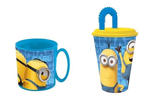 minions,Taza apta para microondas y vaso.: Amazon.es: Hogar