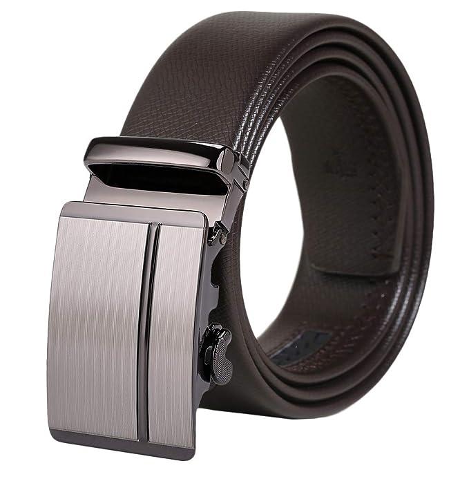 taglia 40 36b9f 0b04c Cintura In Pelle, Cintura Uomo Automatica Con Fibbia ...