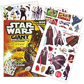 Star Wars Coloring & Activity Book with Stickers ~ Over 500 Stickers!