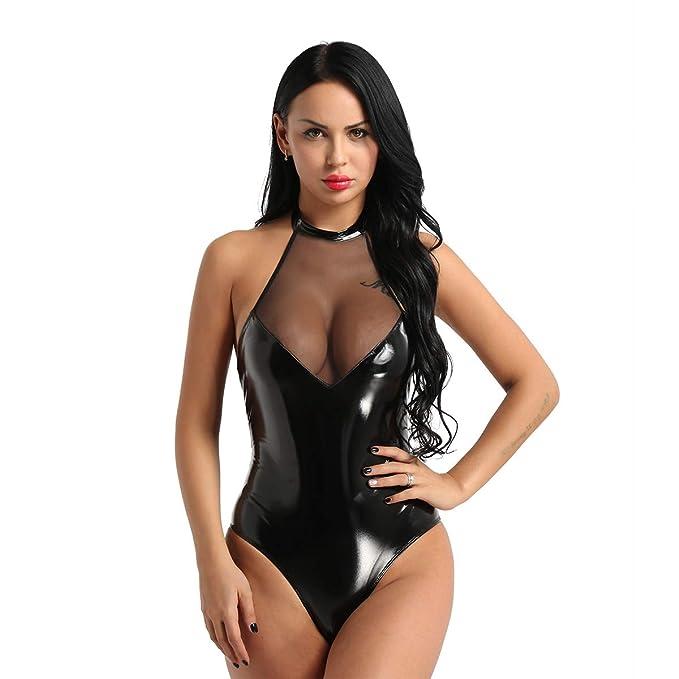 531f8fb58a CHICTRY Conjunto Lencería Mujer Erotica Pijama Enteros Mujer Ropa Interior  Mujer Sexy Conjuntos Body Encaje Mujer Vestido Sexy Negro Camisón Monos  Teddy ...