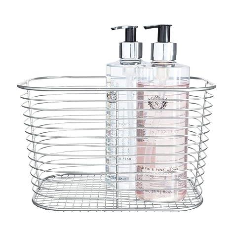InterDesign iDesign Vienna almacenaje, Gran Organizador Metal, cesto de baño para Guardar cosméticos o