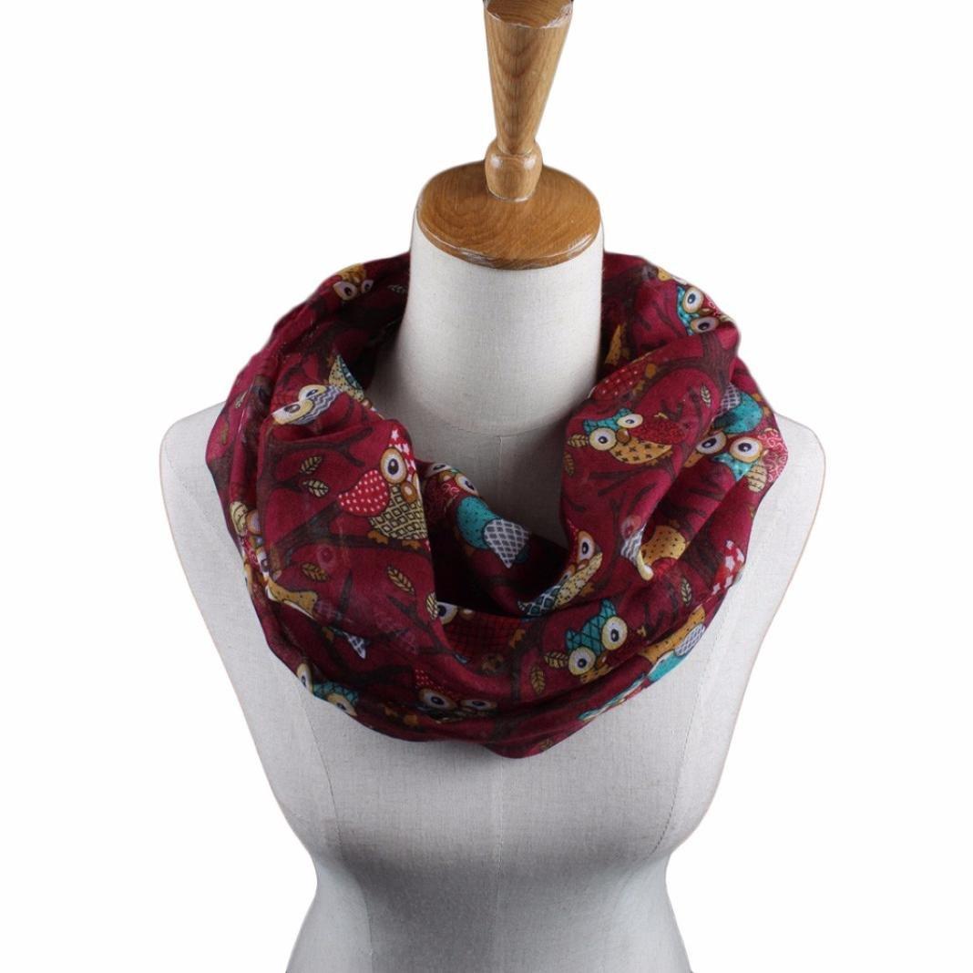 4bacc5c52595 Tonsee®® Les Femmes Belles Mixte Motif Couleur Voile Echarpes Châle Wrap  Wraps Scarf