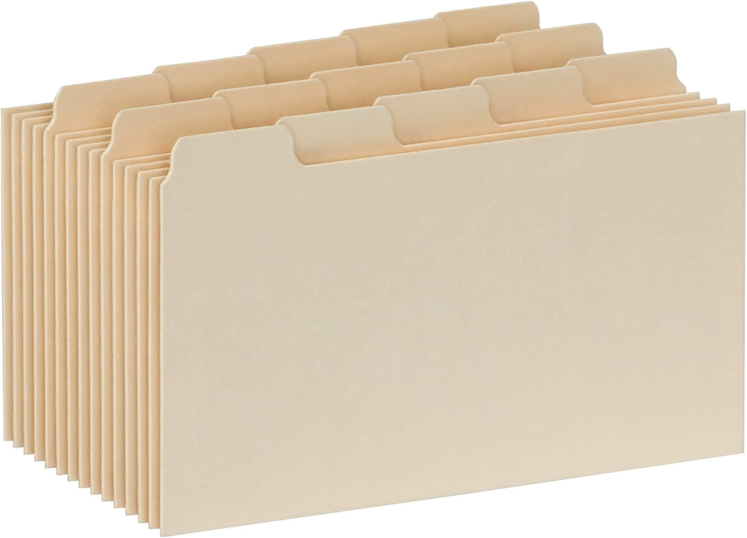 Oxford Index Card Guides with Blank Tabs, 3 x 5 Inches, 1/5 Cut Tabs, Manila, 100 per Box (40352) : Office Products