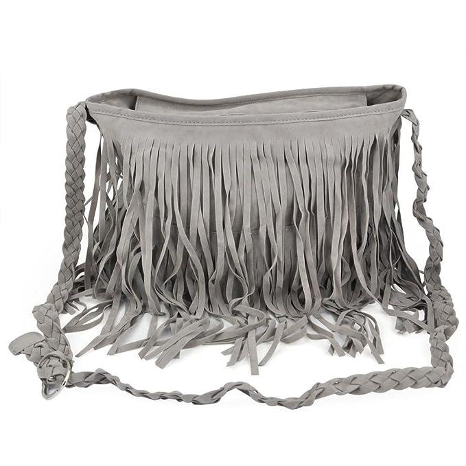 d763593d81581 Yahee Damentasche Tasche Schultertasche Tassel Fransen Handtasche Shoulder  Bag  Amazon.de  Bekleidung