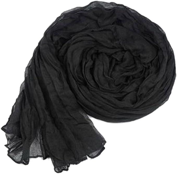 Y-BOA-Foulard, bufanda arrugado-mujer Y niña, de algodón, de lino ...