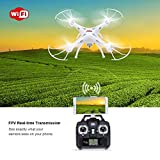 Syma-X5SW-FPV-Explorers2-24Ghz-4CH-6-Axis-Gyro-RC-Headless-Quadcopter-Drone-UFO-with-HD-Wifi-Camera-White