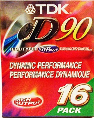TDK D90 High Output Dynamic Performance Audio Cassette (16 pack)