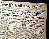 DOOLITTLE RAID James Jimmy JAPAN Bombers EXECUTIONS 1943 World War II Newspaper THE NEW YORK TIMES, April 23, 1943