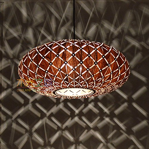 Handmade Galaxy Hanging 2-Light Pendant lamp, Made of Walnut veneer,Cut-Out Style,Bedroom,Dining room,Pendant Lamp,Ceiling Lamp,lighting