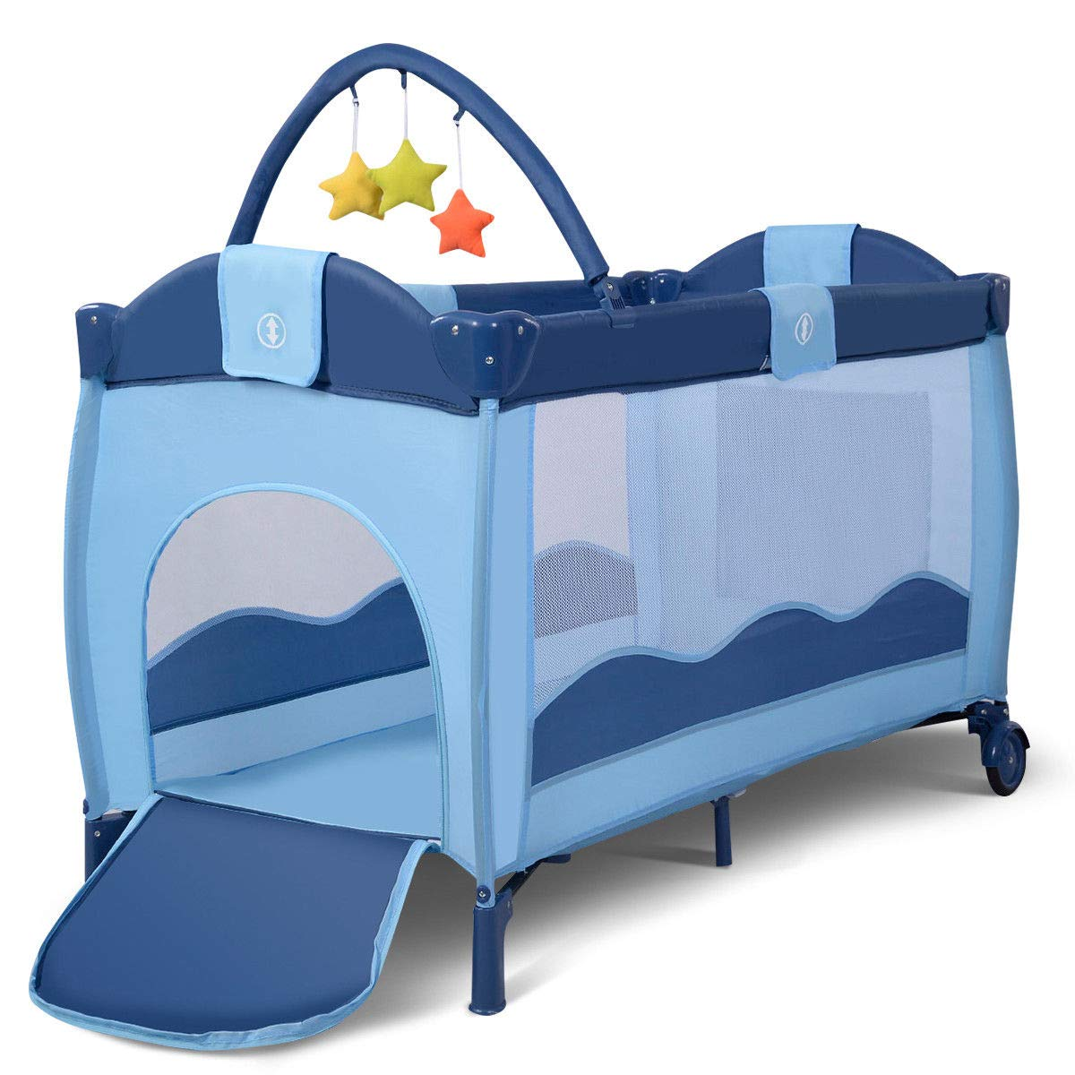 Toddler Baby Crib Playard Pack Playpen Bassinet Travel Infant Bed Portable Foldable by WealthyPlaza (Image #4)