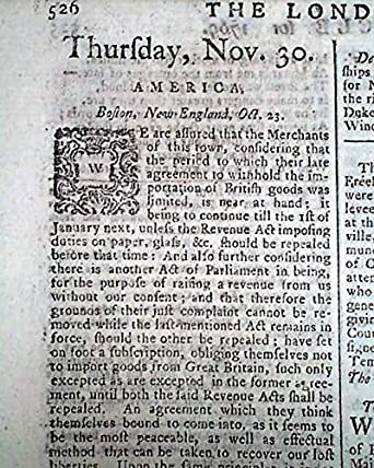 Non Importation Agreement People Of Boston Protesting 1769 London Uk