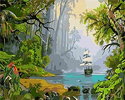 Pack of 20 [WOODEN FRAMED] Diy Oil Painting, paint By Number- Forests 1620 inch