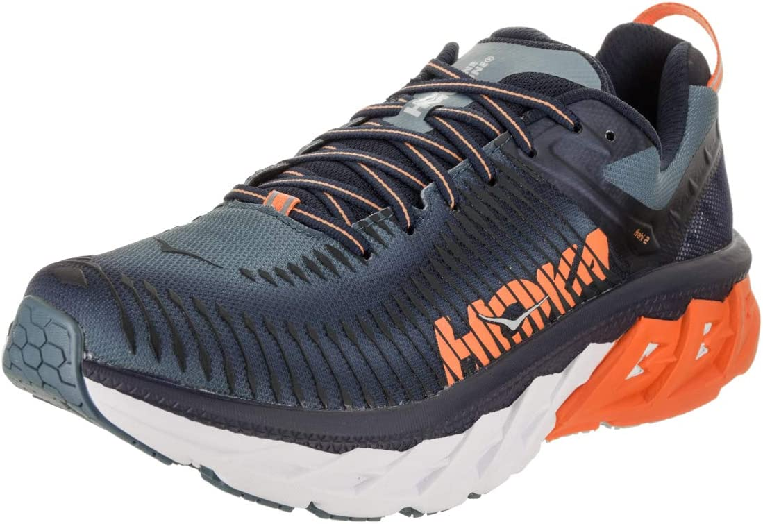 Hoka One One Hombre Arahi 2 Textile Synthetic Black Iris Bluestone ...
