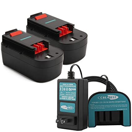 Creabest New 2Packs 3.5Ah Ni-MH 18V Repalcement Battery Compatible with Black & Decker