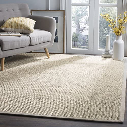 Safavieh Natural Fiber Collection NF525C Marble Sisal Area Rug 9' x 12'