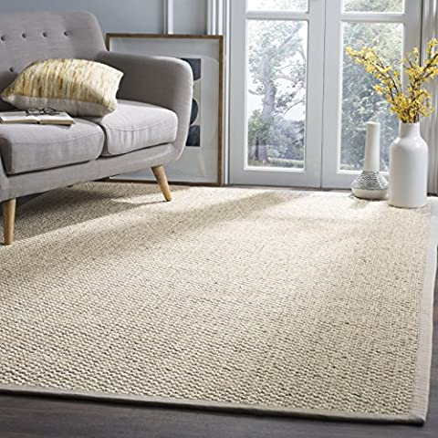 Safavieh Natural Fiber Collection NF525C Marble Sisal Area Rug (9' x 12') (Area Rugs Natural Fiber)