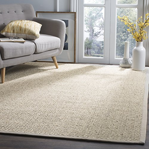 Safavieh Natural Fiber Collection NF525C Marble Sisal Area Rug (9' x 12') (Rug X Sisal 12 12)