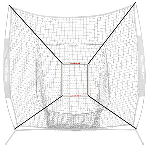 PowerNet Strike Zone Attachment For 7x7 Baseball Softball Net | Work on Pitching Drills and Location Accuracy | Solo or Team Pitcher Training Aid | Instant Feeback on Strikes or Balls Location by PowerNet