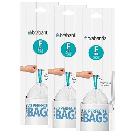 Brabantia Smartfix Slimline - Bolsas de basura (20 L, tipo F ...