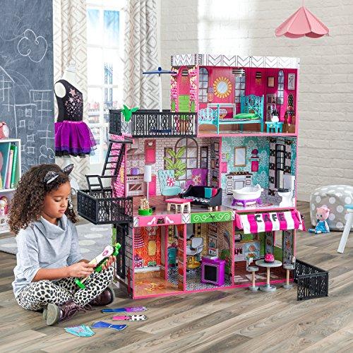 6104pRebxSL - KidKraft So Chic Dollhouse with Furniture
