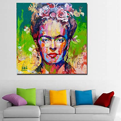 Faicai Art Frida Kahlo Portrait Printings Pop Paintings Colorful Wall Canvas Prints And Posters