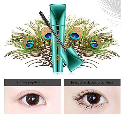 Euone  Mascara Clearance Sale , Open Up Peacock Eyelashes 360 Degrees Spiral Black Mascara Waterproof ()
