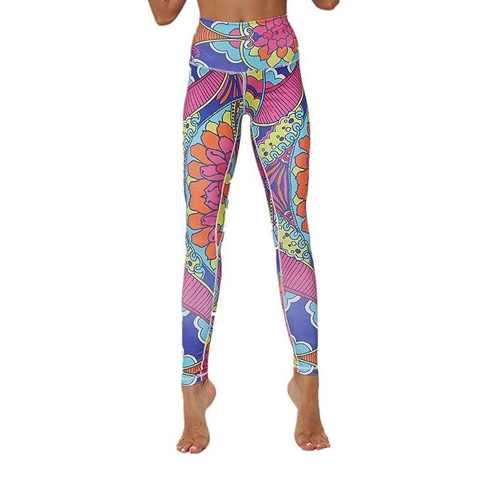 SXZG Pantalones De Yoga con Estampado Digital para Mujer ...
