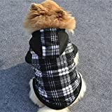 Small & Big Dog Sweaters Clothes Winter Outwear,PrettyW Pet Sweater Hoodie for Dogs (S, Black)