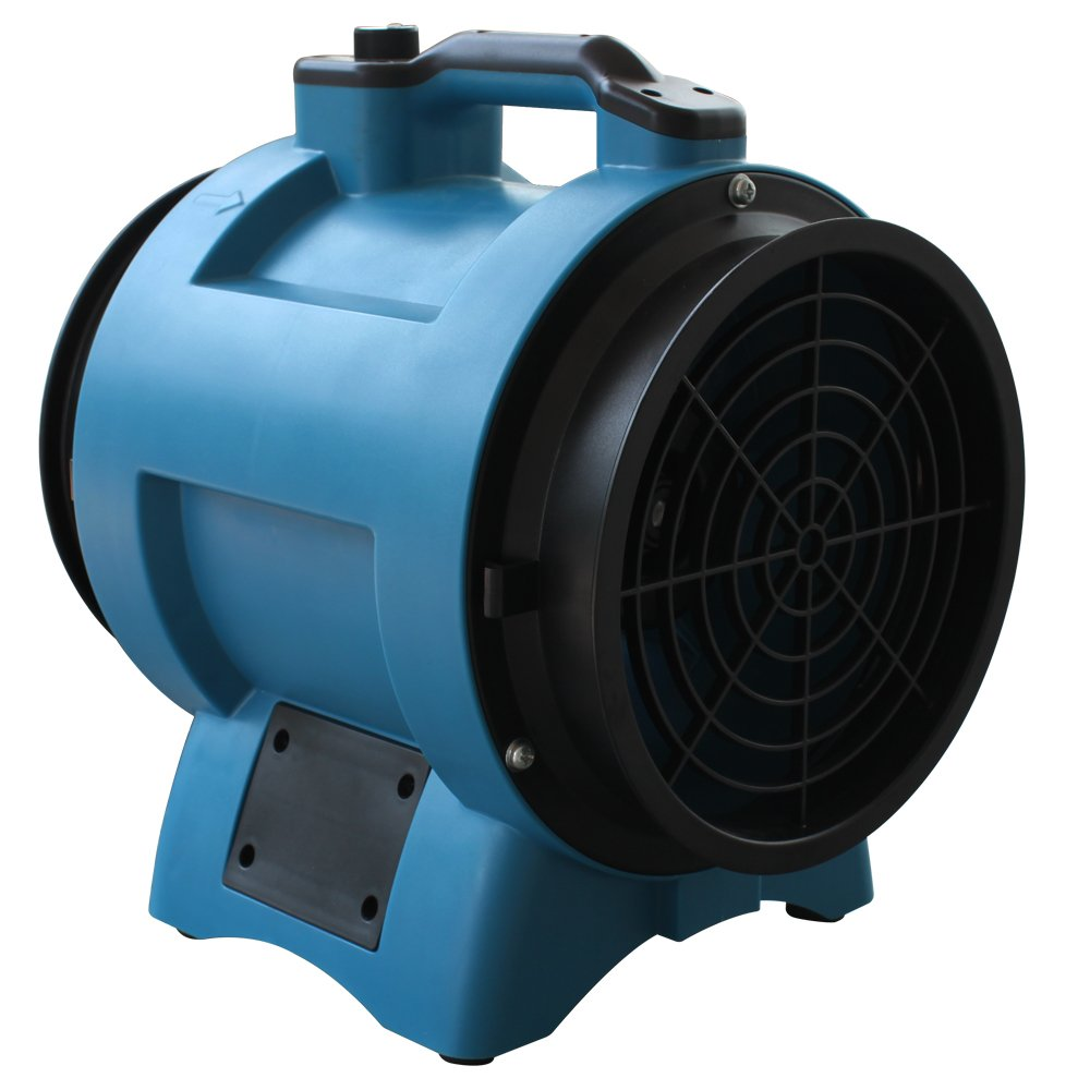 XPOWER X-12 Industrial Confined Space Ventilator Fan, 12'' Diameter, Blue