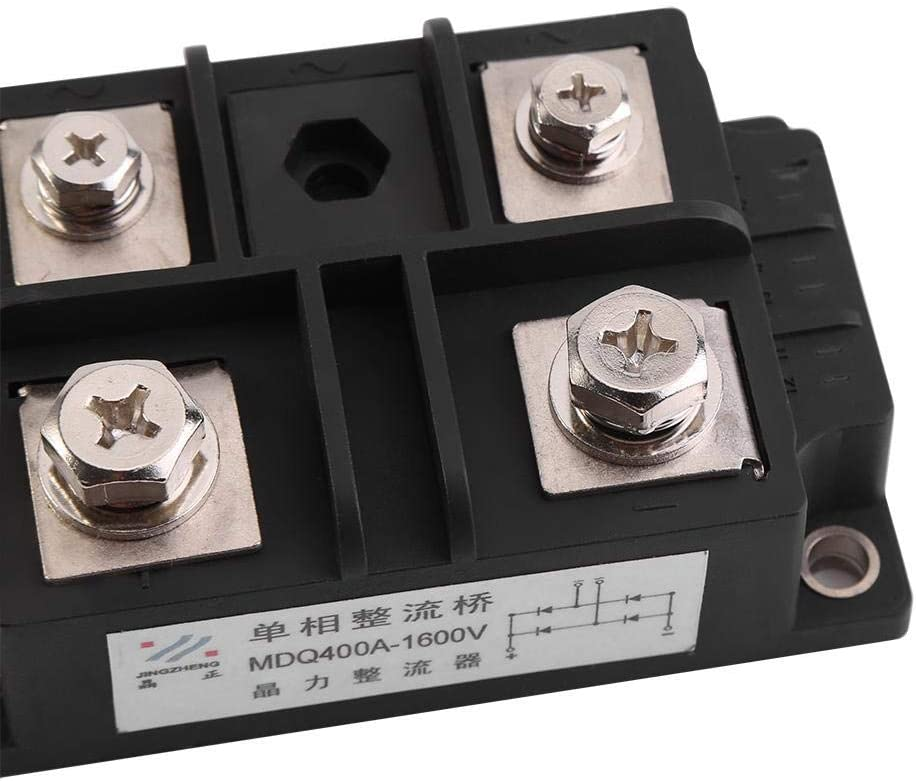 Bridge Rectifier Single-Phase Diode Bridge Rectifier 400A 1600V High Power 4 Terminals for Conversion of an Alternating Current Input Into A Direct Current Output