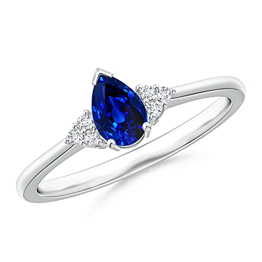 Angara Solitaire Blue Sapphire Earrings Platinum cJNySqvIAo
