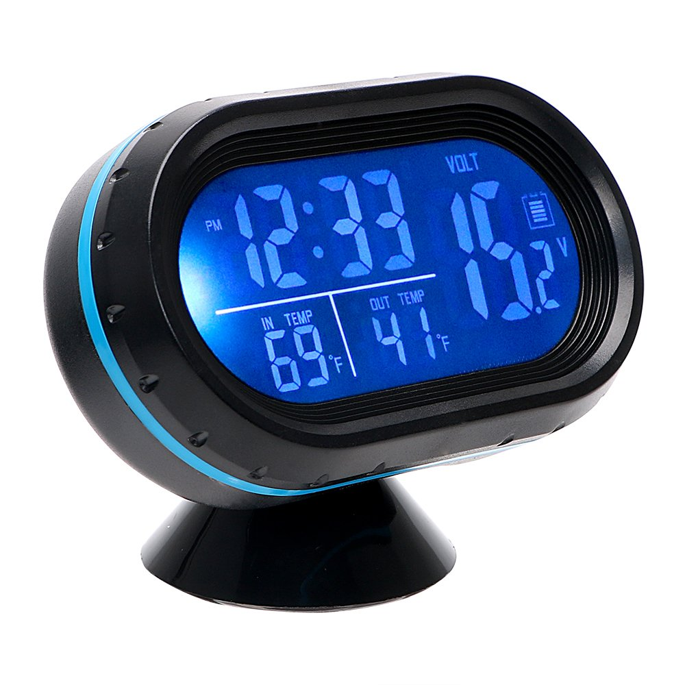 Car Clock Thermometer Dashboard Decoration Multi Function Ornaments NOPNOG