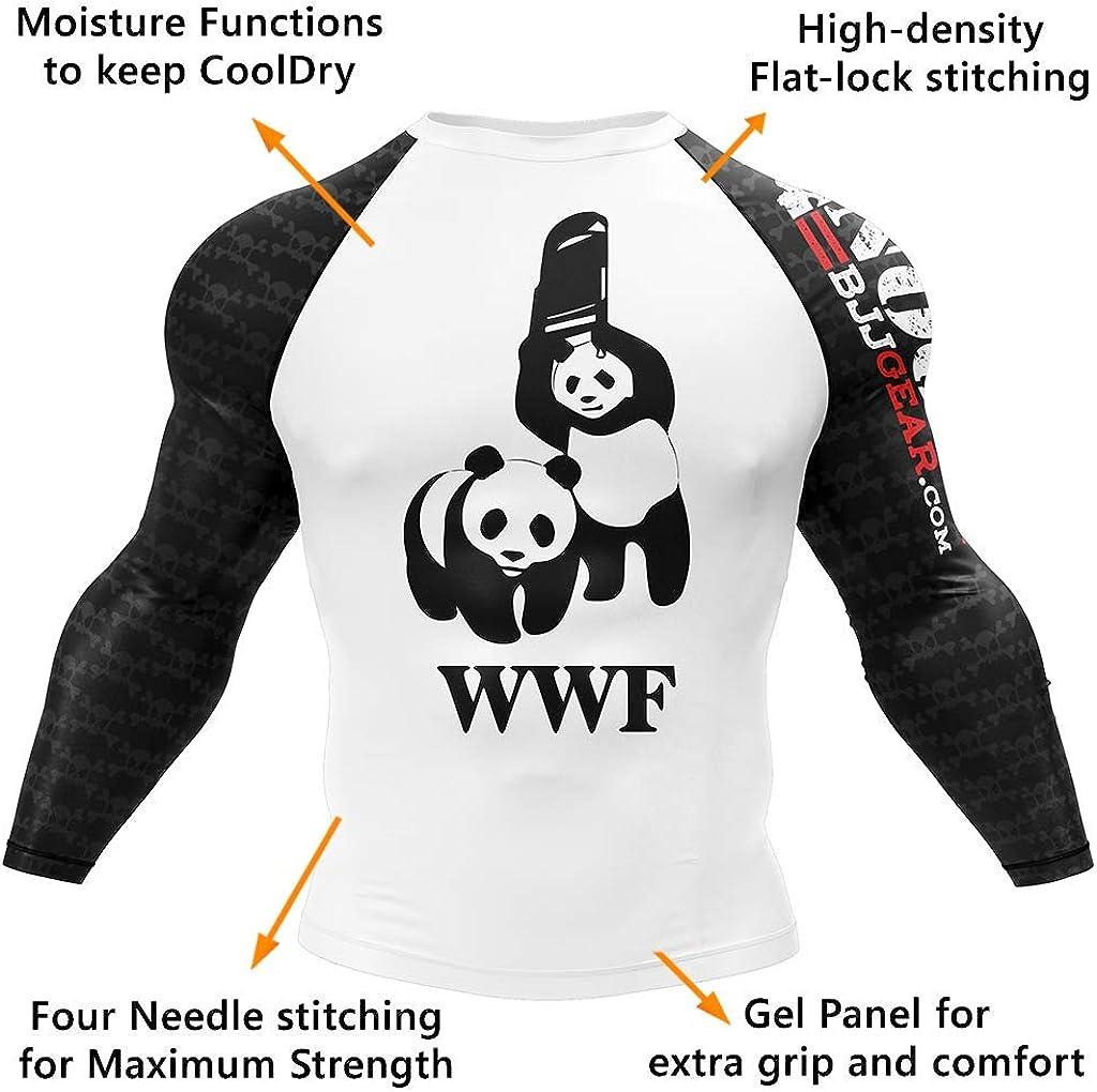 Grappling and Wrestling No Gi BJJ Compression Rash Guard /& Spats for Jiu Jitsu Long Sleeve and Short Sleeve MMA