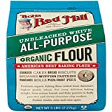 Bob's Red Mill, Flour Unbleached White All Purpose Organic, 80 Ounce