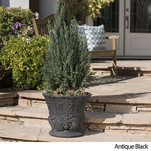 Great Deal Furniture Fern Outdoor Antique Black Finish Light Weight Concrete Urn by Great Deal Furniture (Image #1)