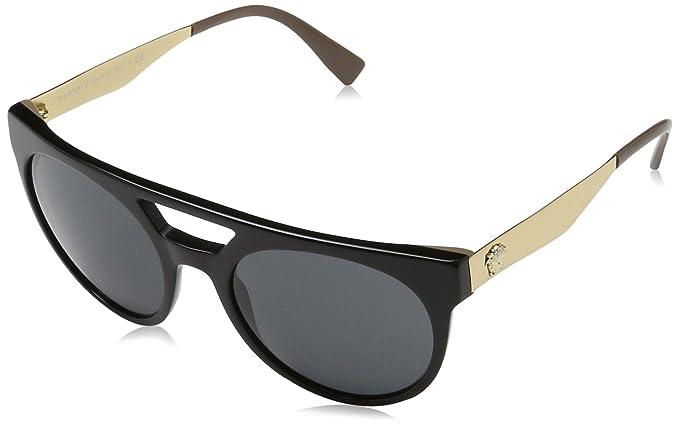 Versace 0Ve4339 Gafas de sol, Black/Beige, 55 para Hombre ...