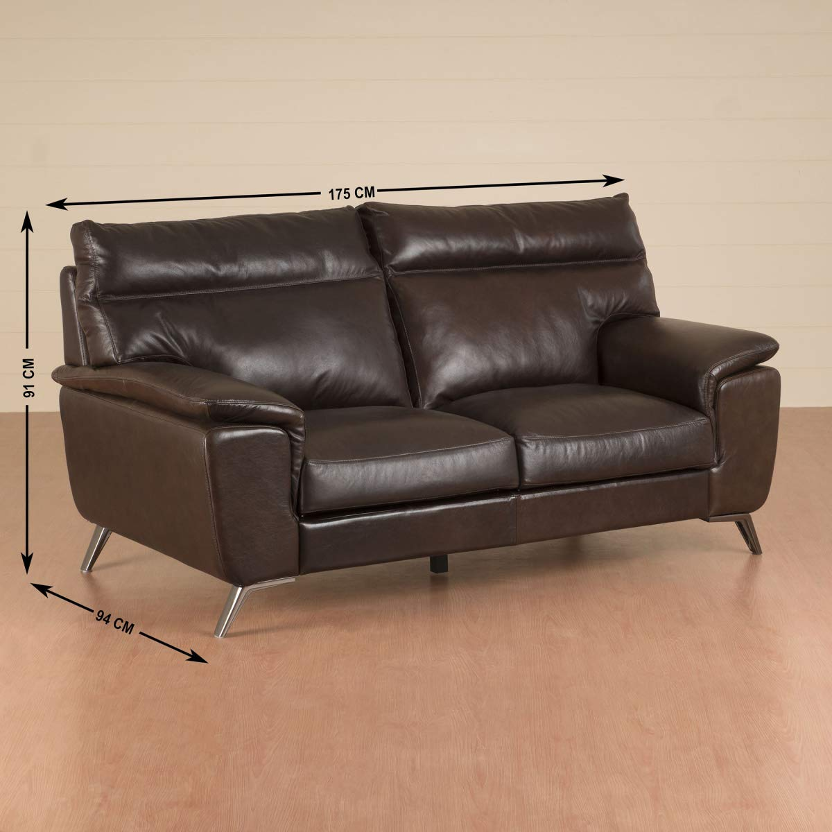Strange Home Centre Aprilla Two Seater Full Leather Sofa Amazon In Inzonedesignstudio Interior Chair Design Inzonedesignstudiocom