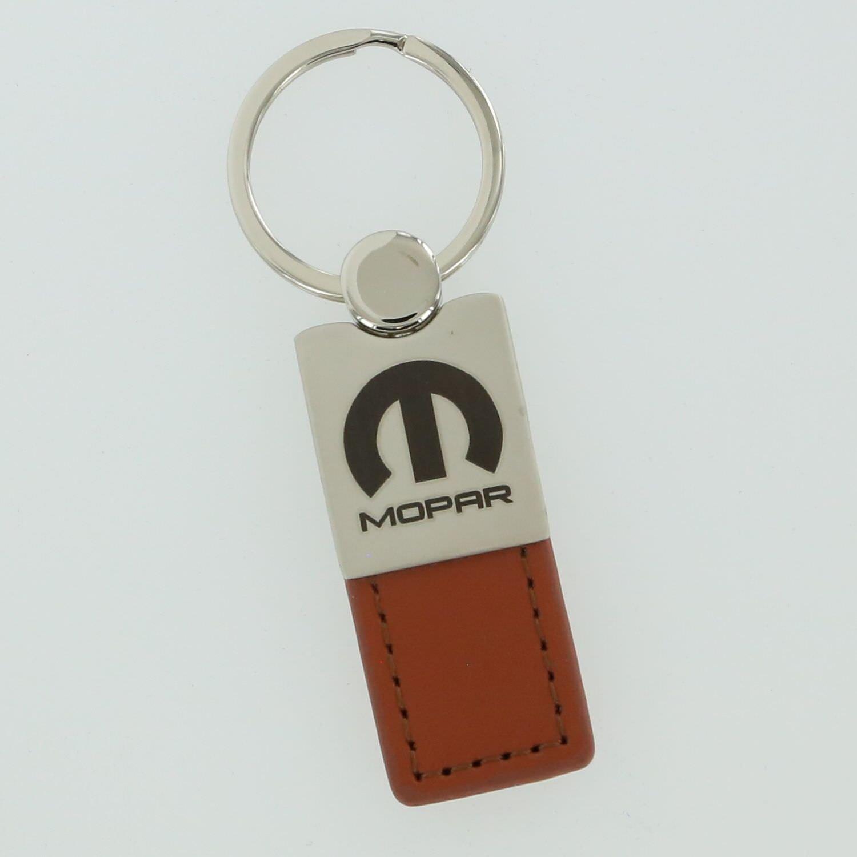 INC Dodge Jeep Mopar Brown Leather Car Fob Key Chain Ring Au-Tomotive Gold DanteGTS