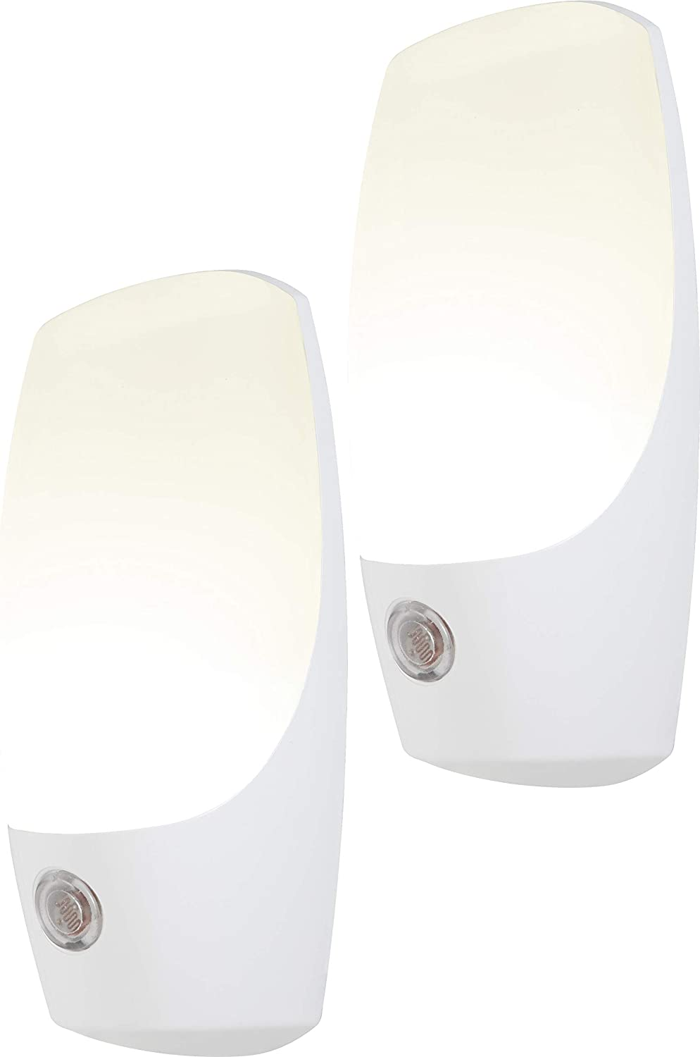 Energizer Automatic Nightlights, 2 Pack, Soft White, Light Sensing, On at Dusk, Off at Dawn, for Kids, Energy Efficient LED, for Hallway, Bedroom, Staircase, Bathroom, 37101, 2 Count