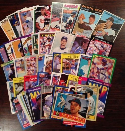 NICE CARD LOT - VINTAGE with 1960s BASEBALL CARDS ~ Each lot Includes TED WILLIAMS~ MICKEY MANTLE ~ CY YOUNG ~ CAL RIPKEN JR ~ DEREK JETER ~ NOLAN RYAN ~ SATCHELL PAIGE~ AL KALINE (Mantle Williams Ted Mickey)