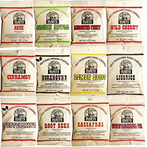 (Claeys Old Fashioned Hard Candy - Variety 12 Pack - All Flavors - Since 1919)