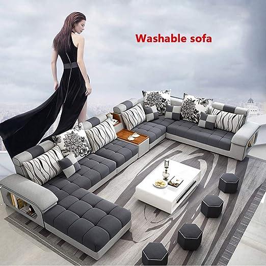 WSN Rinconera sofá,Sofá de Esquina Grande Sofá de Tela ...