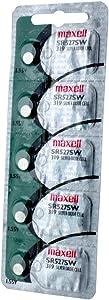 5pk Maxell SR527SW SR64 319 SR527 Silver Oxide Watch Battery
