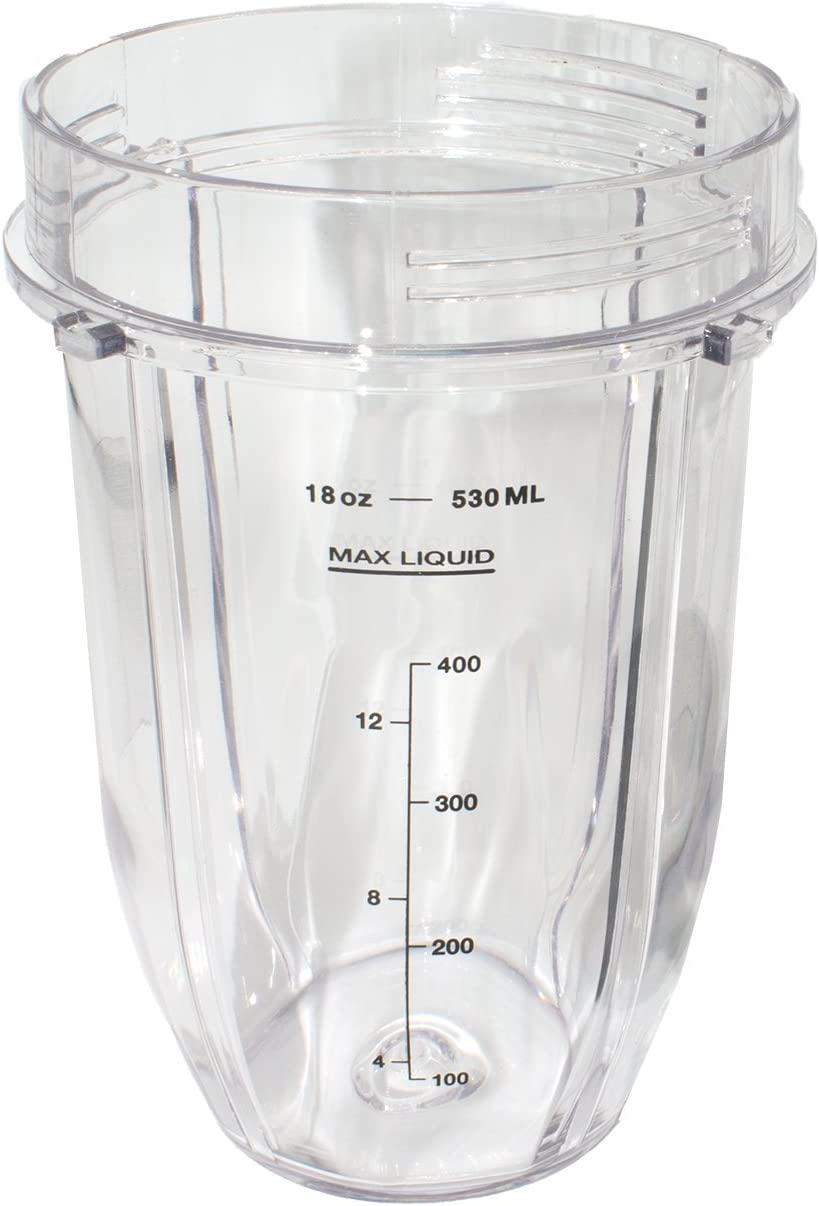 Blendin Replacement Cup Jar, Compatible with Nutri Ninja Auto-iQ 1000W and Duo Blenders (18 Ounce Cup)
