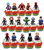 Super Hero Marvel Avenger Cupcake Toppers