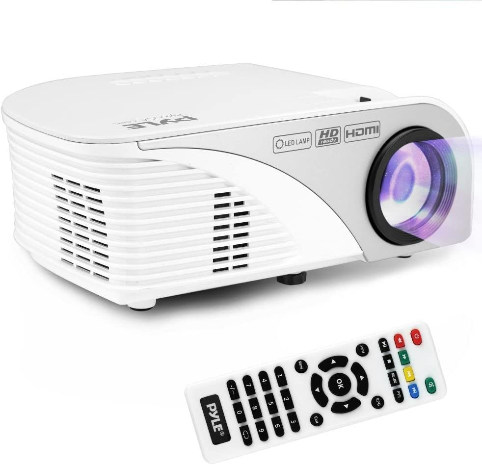 B01LD3J4WM Pyle Video Projector 1080p Full HD Digital Multimedia Mini Home Theater Cinema - Compact, Portable with Remote, LCD Led Lamp Display Screen, HDMI & USB Inputs for TV, Laptop, PC & Computer - (PRJG95) 6104xg5ZvVL.SL1000_