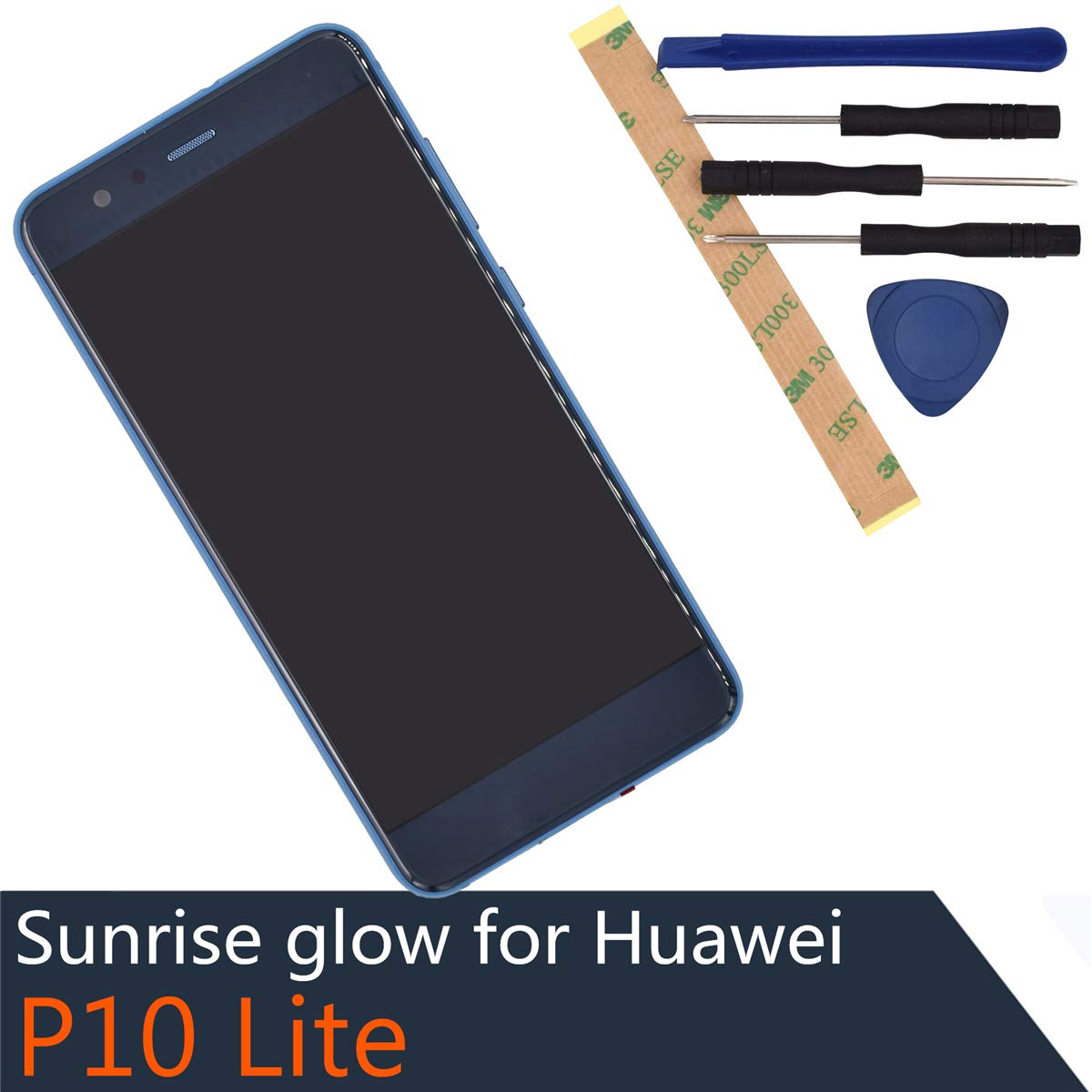 LCD Touch Assembly LCD Display Touch Screen Digitizer Complete Compatible withHuawei P10 Lite Nova Youth Blue【with Frame】 by sunrise glow