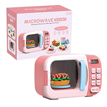 Microondas de Juguete para niños Microondas con cocinas de ...
